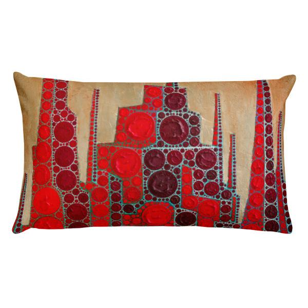 Red Babylon (Rectangular Pillow)
