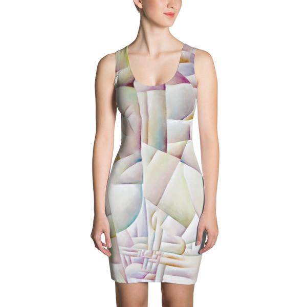 Cut & Sew Dress (Urban Landscape)