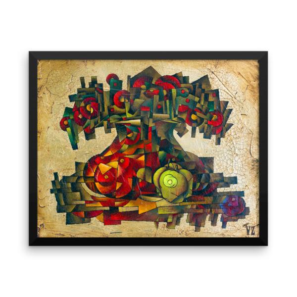Framed poster (Vase and Apple)