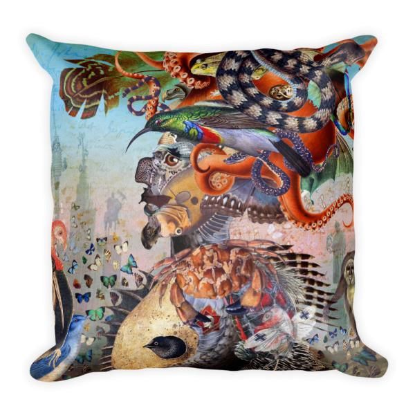 Square Pillow (Fauna)