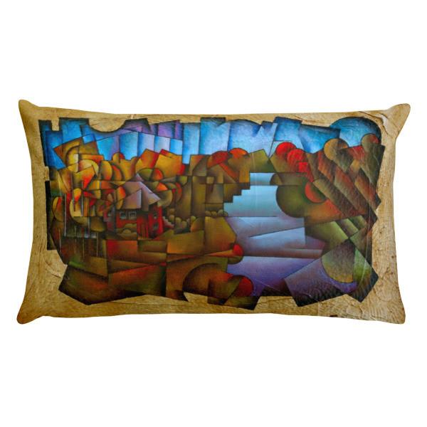 Rectangular Pillow (Shenandoah River Cabin)