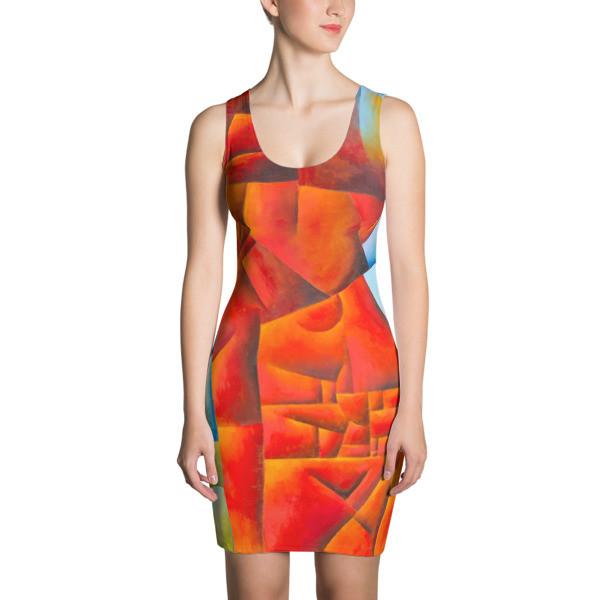 Sublimation Cut & Sew Dress (Red Lion)