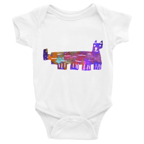 Infant Bodysuit (Colorful Cat)