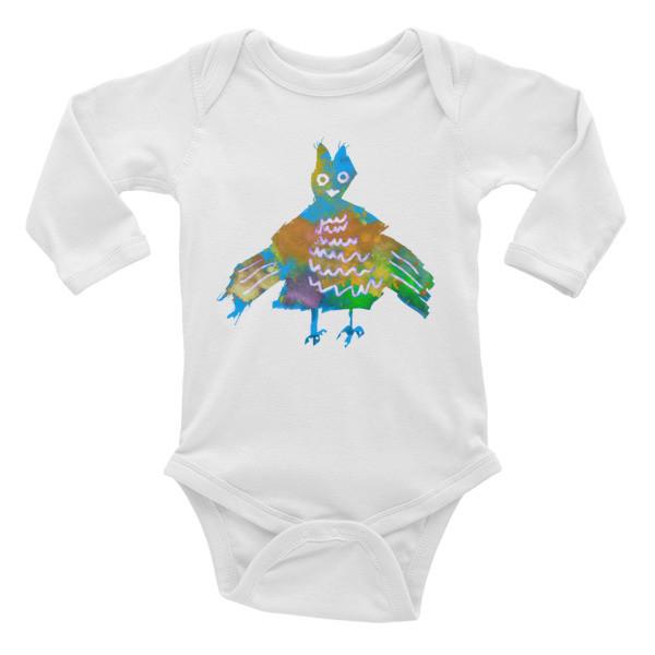 Infant Long Sleeve Bodysuit (Blue Phoenix)