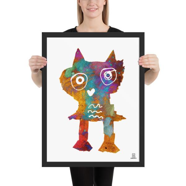 Framed poster (Owl)