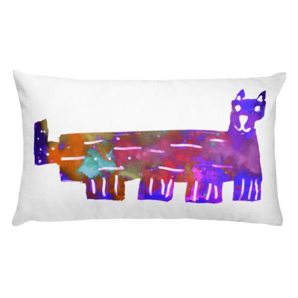 Rectangular Pillow (Colorful Cat)
