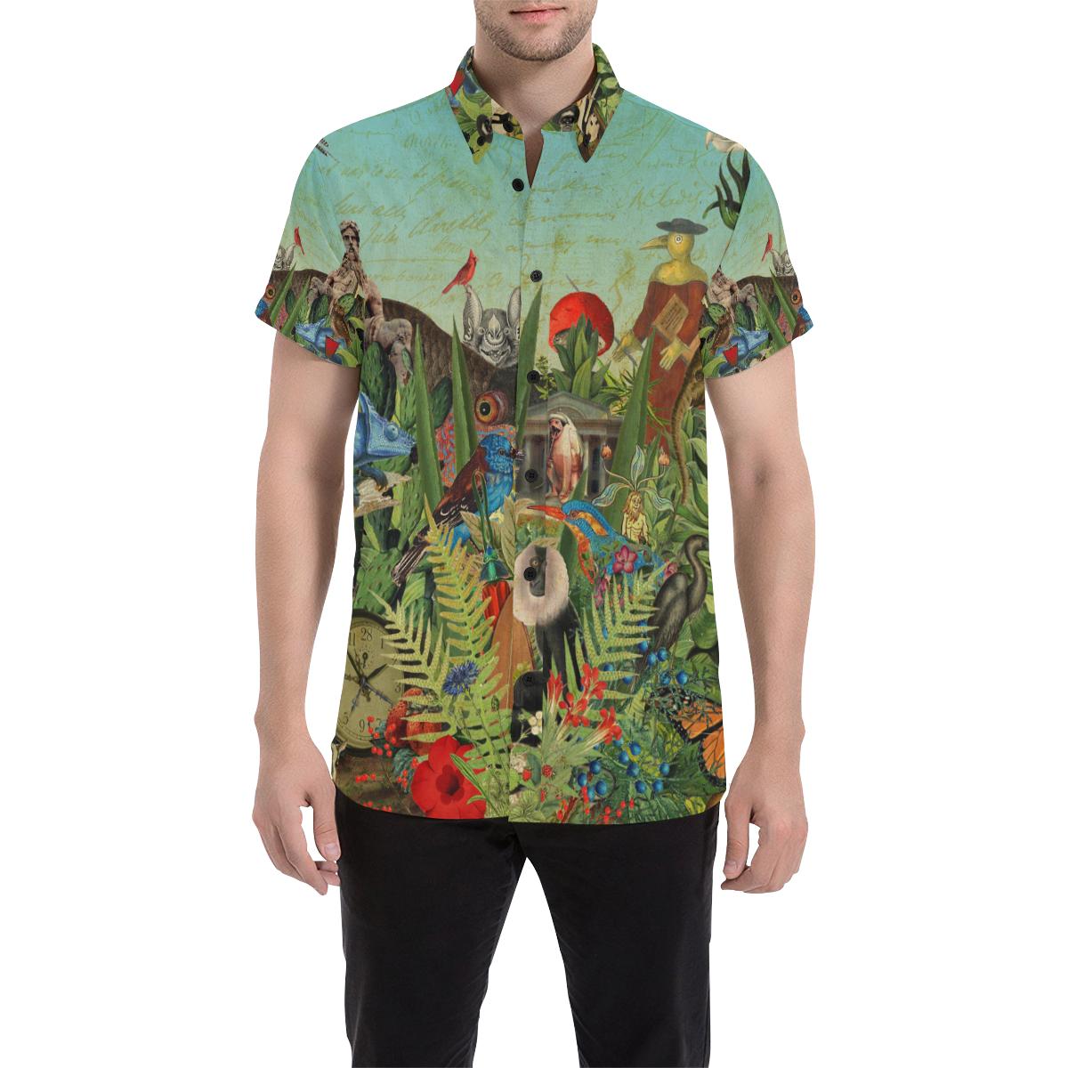 Men's All Over Print Shirt (Flora and Fauna)