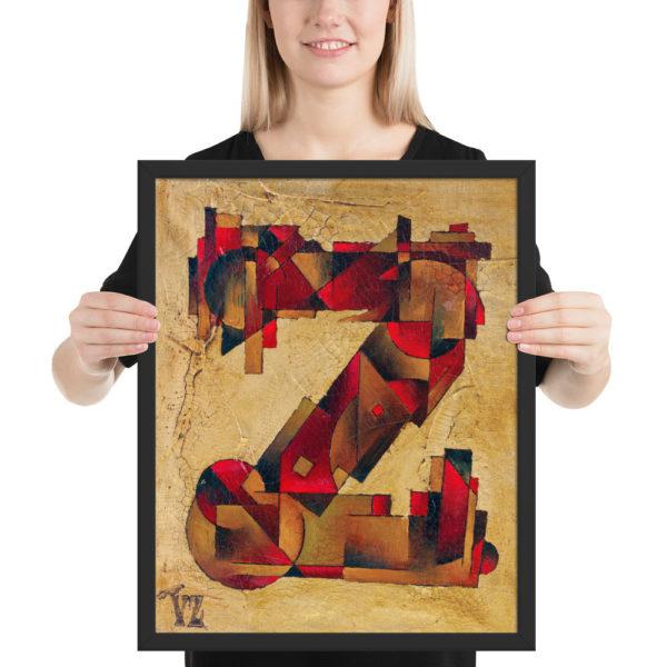Framed poster (Letter Z)